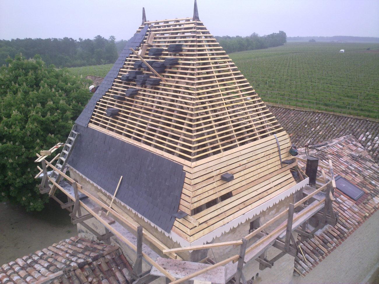 Rénovation de toiture à Eymet