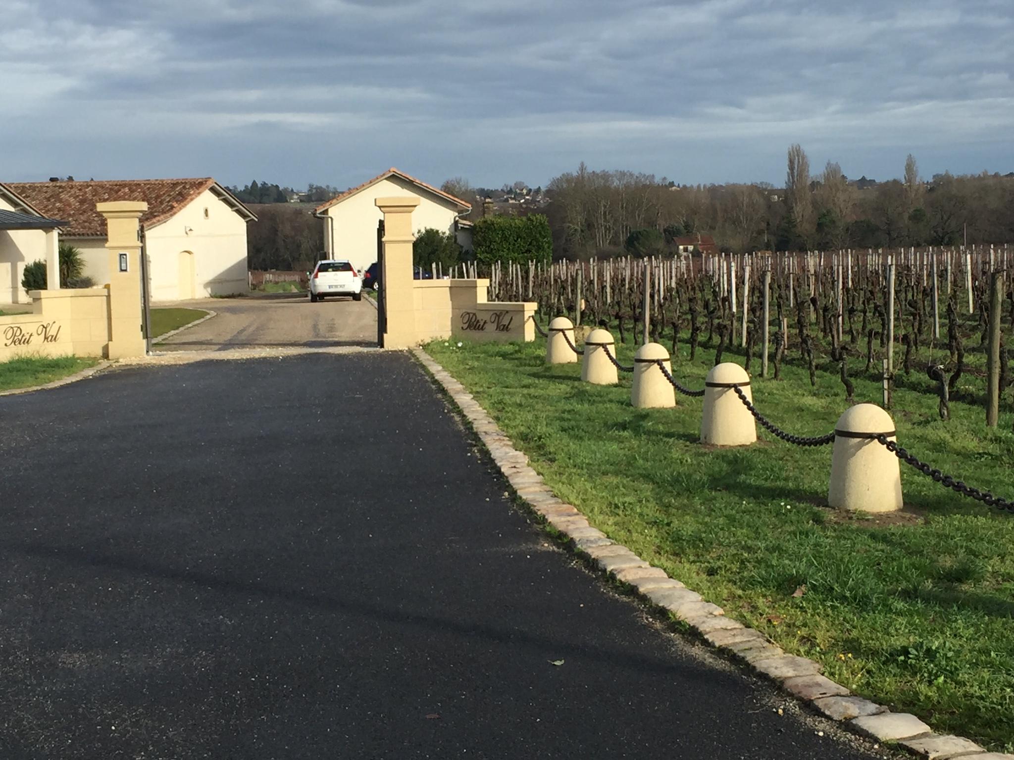 Rénovation entrée château viticole